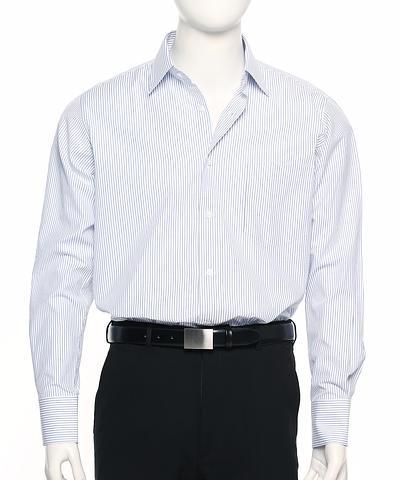 2010L-BK-EHE BLUE Men's stripe shirt