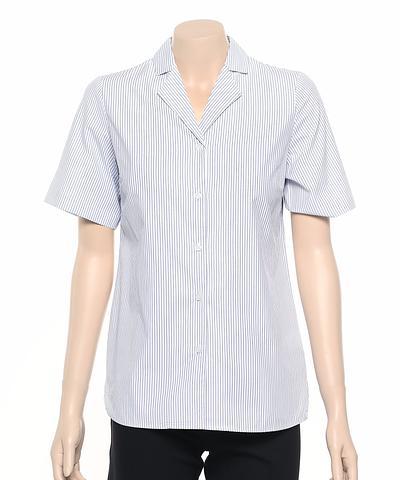 2166-BK-ehe BLUE Ladies easy fit shirt