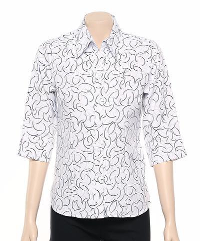 2172-BR-EHE Print 50 Ladies 3/4 sleeve shirt