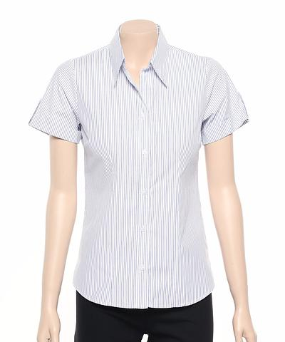 299S-BK-EHE BLUE Ladies cuff shirt