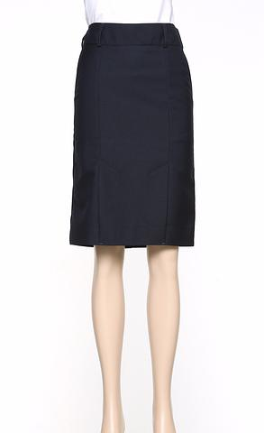 375-MG-ehe NAVY Kick pleat skirt