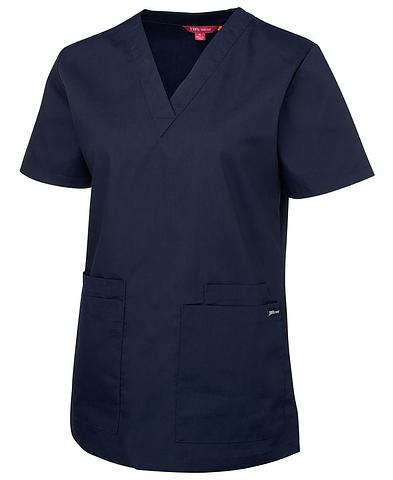 TS4SRT1-ehe NAVY Ladies basic scrub top