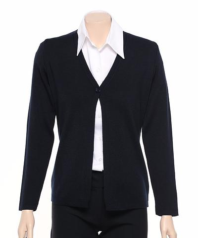 WB410-ehe NAVY Single button cardigan