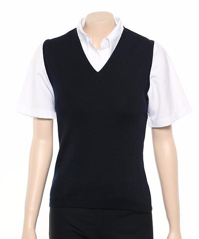 WB412-ehe NAVY Ladies v-neck vest