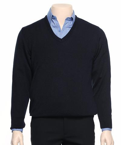 WB60-ehe NAVY Unisex v-neck jumper