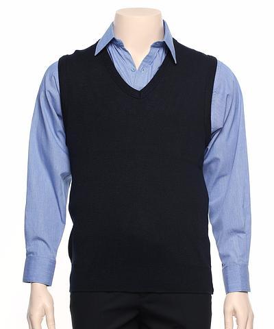 WB62-ehe NAVY Unisex v-neck vest