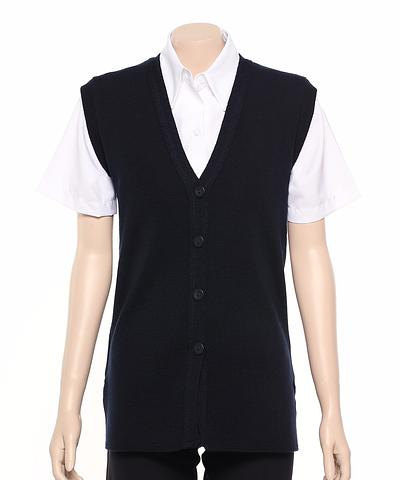 WBV2-ehe NAVY Long line button vest