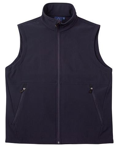 WIJK25-ehe NAVY Unisex soft shell vest
