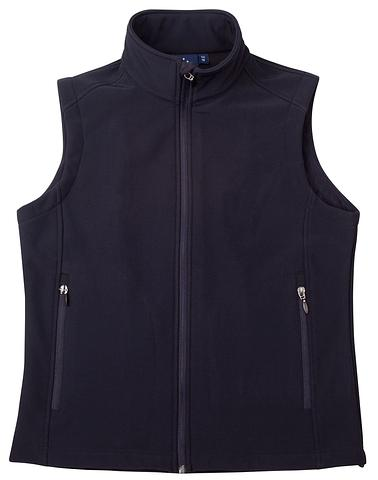 WIJK26-ehe NAVY Ladies soft shell vest