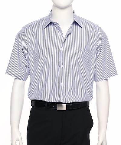 2010S-BK-EHE WIS Men's short sleeve stripe shirt