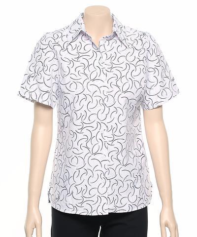 2162-BR-EHE Print 50 Ladies easy fit shirt