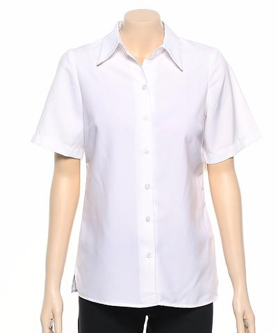 2162-PL-EHE WHITE Ladies easy fit shirt