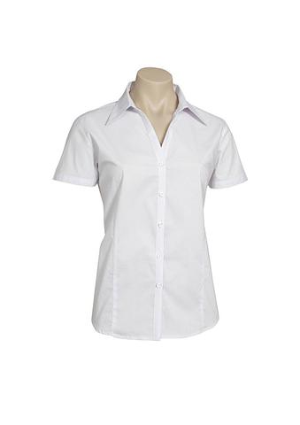 2172S-PO-EHE WHITE Ladies short sleeve shirt