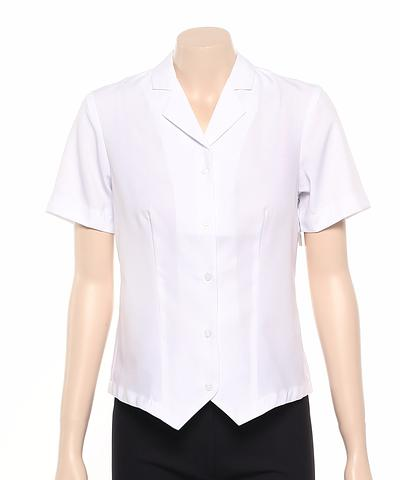 222-PL-EHE WHITE Ladies fitted shirt