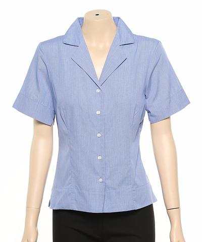 224-SC-EHE BLUE Ladies fitted shirt