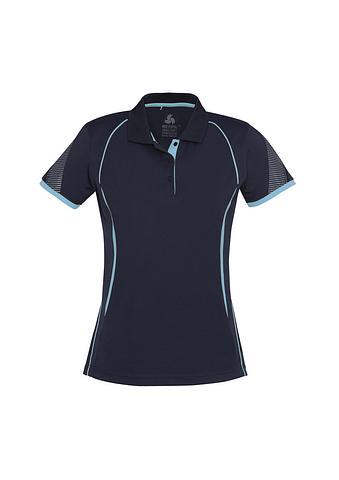 FBP405LS-EHE NAVY/SKY Ladies polo