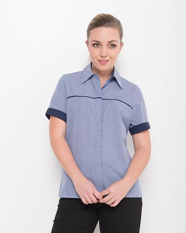 208-LO-EHE Short sleeve piping shirt